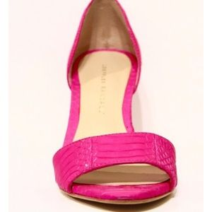 Randall loeffler hot pink high heel sandals